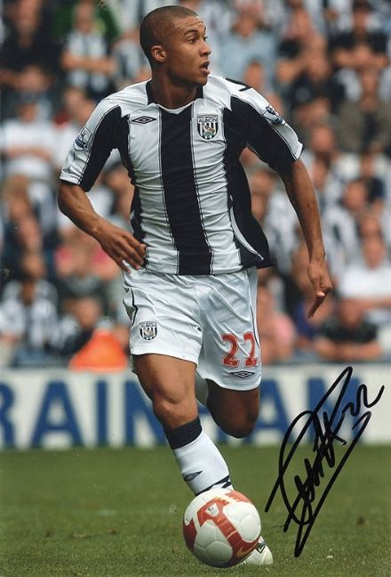 Gianni Zuiverloon, West Brom, signed 12x8 inch photo.